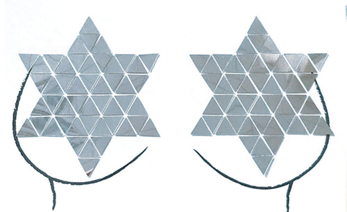 Disco Star Mirror Pasties - Silver