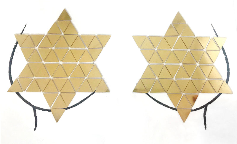 Disco Star Mirror Pasties - Gold