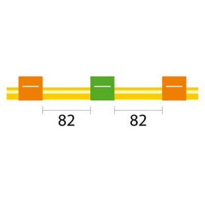 Contour Flared End Solva Tubing - 3 Tag, 82mm orange/green - ID: 0.38 mm