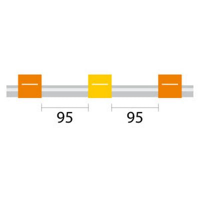 PVC Tubing - 3 Tag, 95mm orange/yellow - ID: 0.51 mm