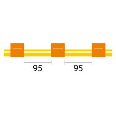 Contour Flared End Solva Tubing - 3 Tag, 95mm orange/orange - ID: 0.89 mm