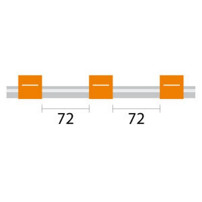 PVC Tubing - 3 Tag, 72mm orange/orange - ID: 0.89 mm
