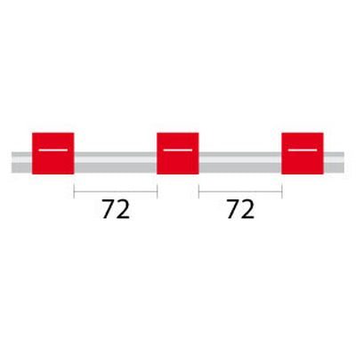 Contour Flared End PVC Tubing - 3 Tag, 72mm red/red - ID: 1.14 mm