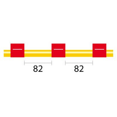 Contour Flared End Solva Tubing - 3 Tag, 82mm red/red - ID: 1.14 mm