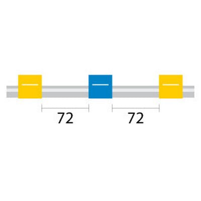 PVC Tubing - 3 Tag, 72mm yellow/blue - ID: 1.52 mm