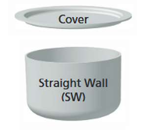 Zirconium Crucibles - Staright Wall - 5 mL to 1500 mL