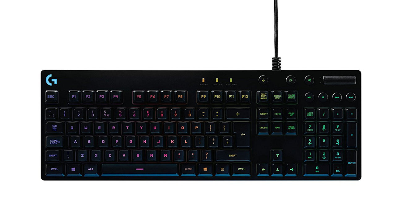 Logitech G810 Orion Spectrum RGB Mechanical Gaming Keyboard, QWERTY, Layout UK English - Black