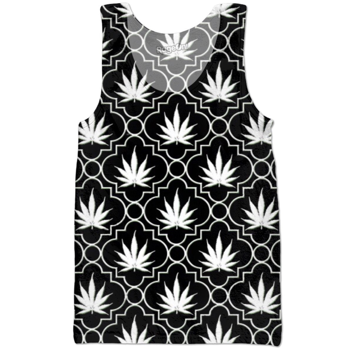 Black And White Chronic Tank Top - TShirtsRUS.co