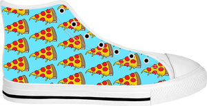 Dripping Pizza White High Tops