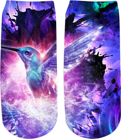 Hummingbird Fire Ankle Socks - TShirtsRUS.co
