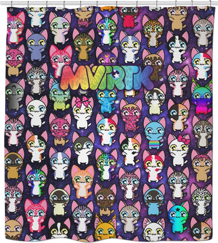 MVTRTK SPACE KITTY Shower Curtain