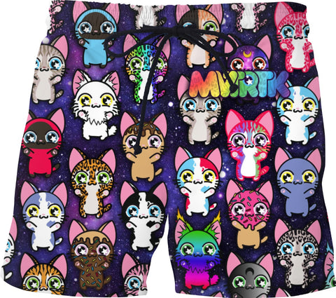 MVTRTK SPACE KITTY Swim Shorts