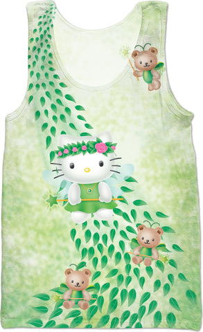 Hello Kitty Green Fairy Tank Top