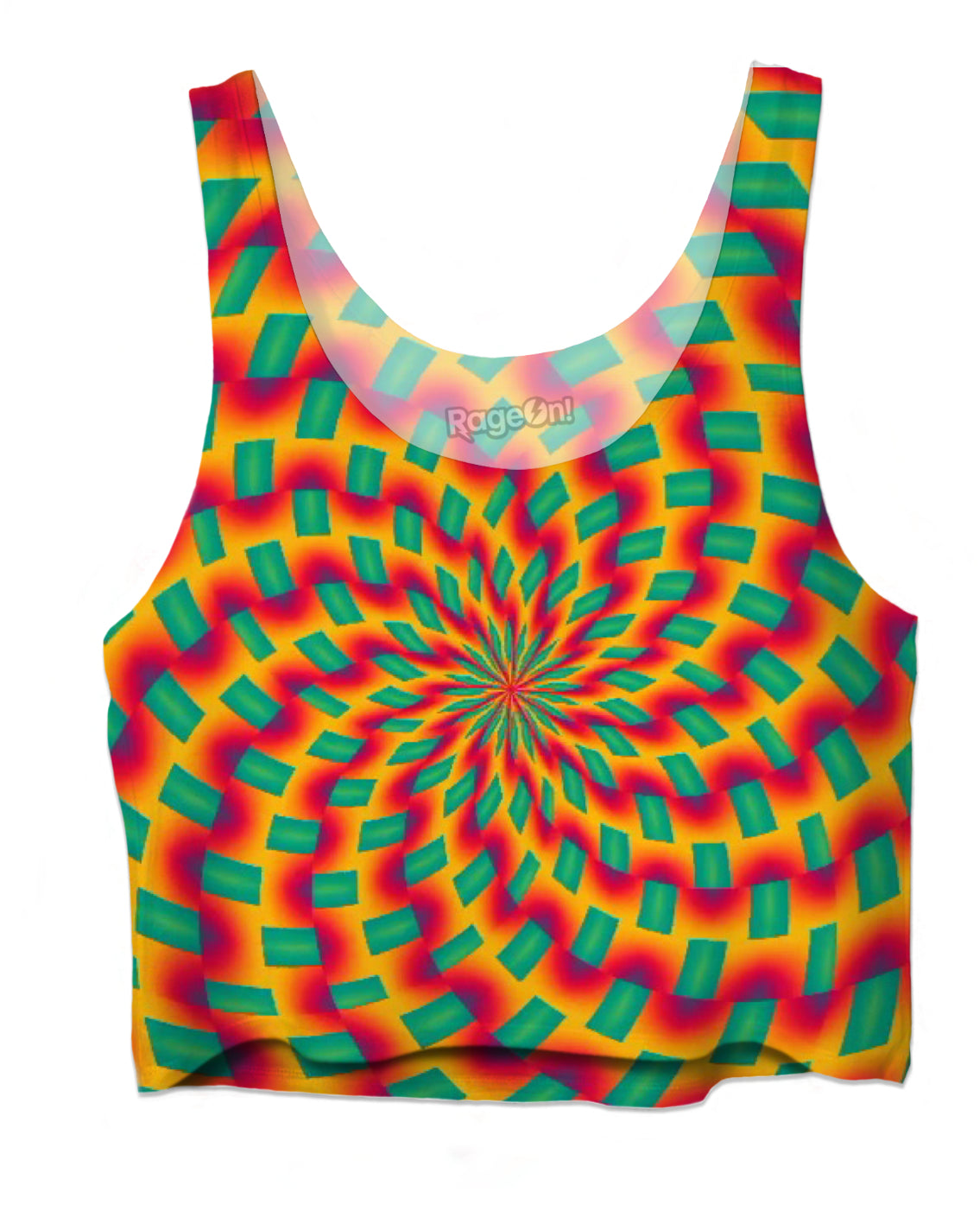 Fractal Fixation Crop Top - TShirtsRUS.co
