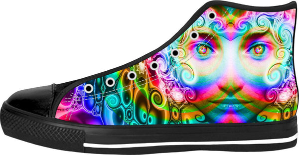 Awesome Energy Black High Tops - TShirtsRUS.co