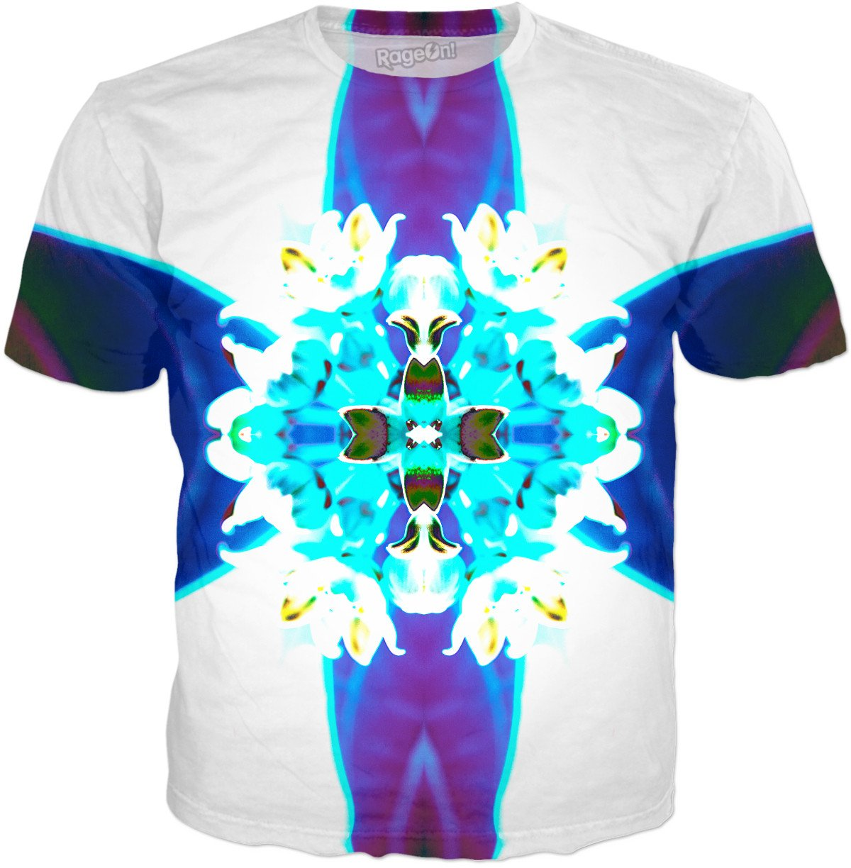 Blue Flower Reflect T-Shirt - TShirtsRUS.co