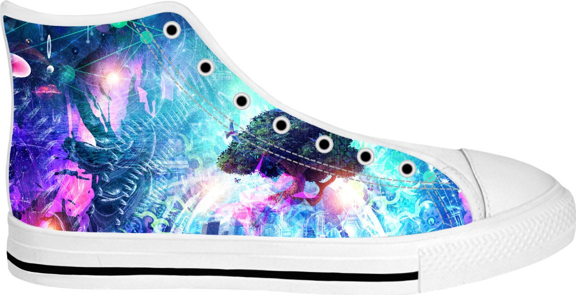 Cosmic Awaken High Top Canvas Shoes - TShirtsRUS.co