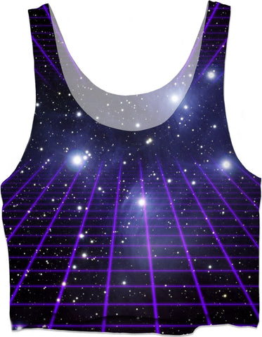 Space Grid 2 Crop Top
