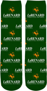 Flower of life logo & legend - LaRenard Sportswear - Green & Orange Socks