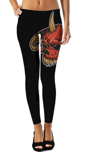 Demon Skull Leggings - TShirtsRUS.co