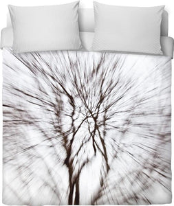 Abstract Snow Tree 1 Duvet Cover - TShirtsRUS.co