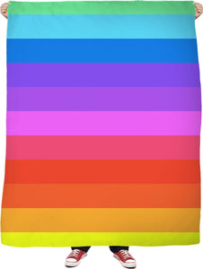 Rainbow Striped Blanket