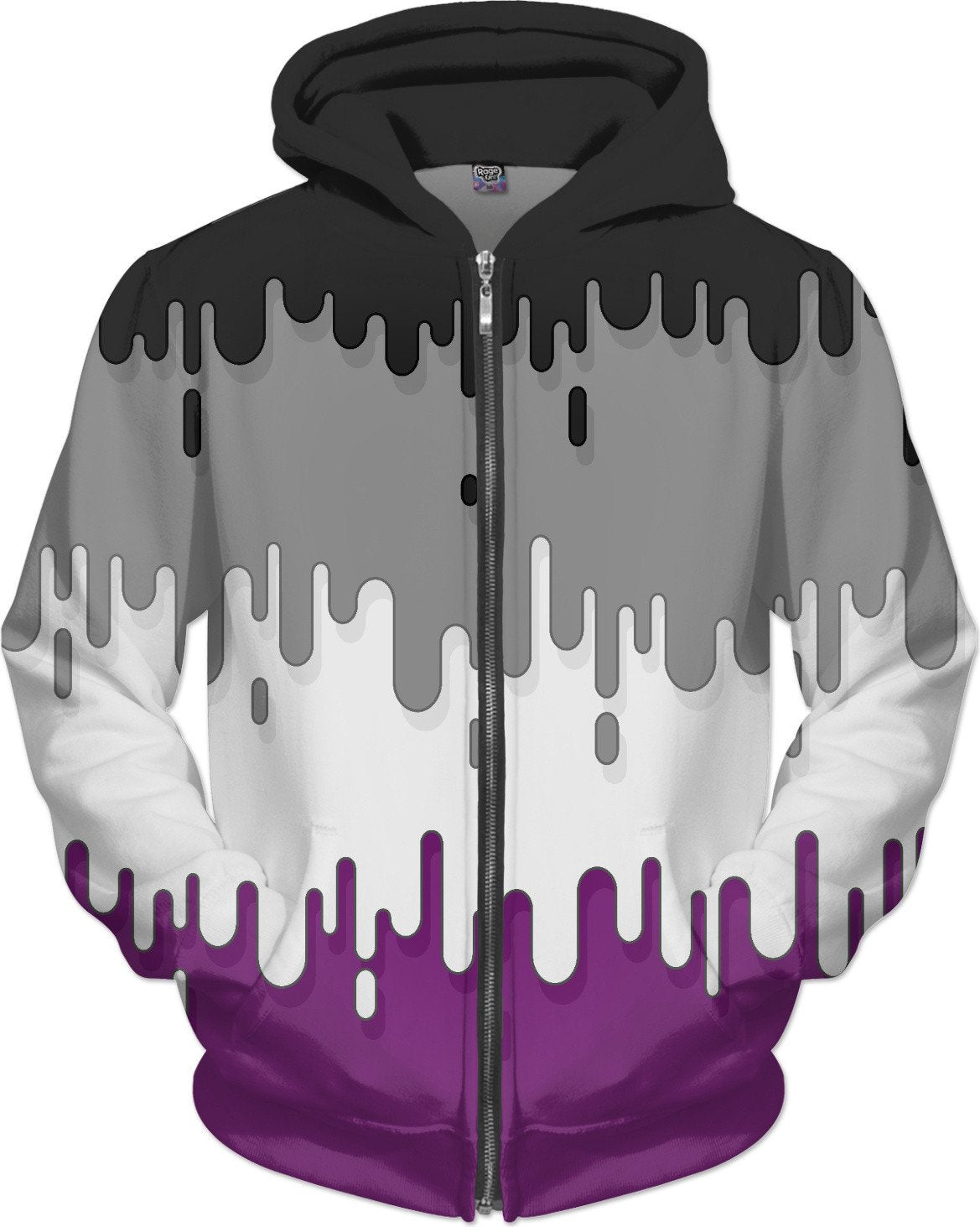 Asexual Abstract Drips Flag