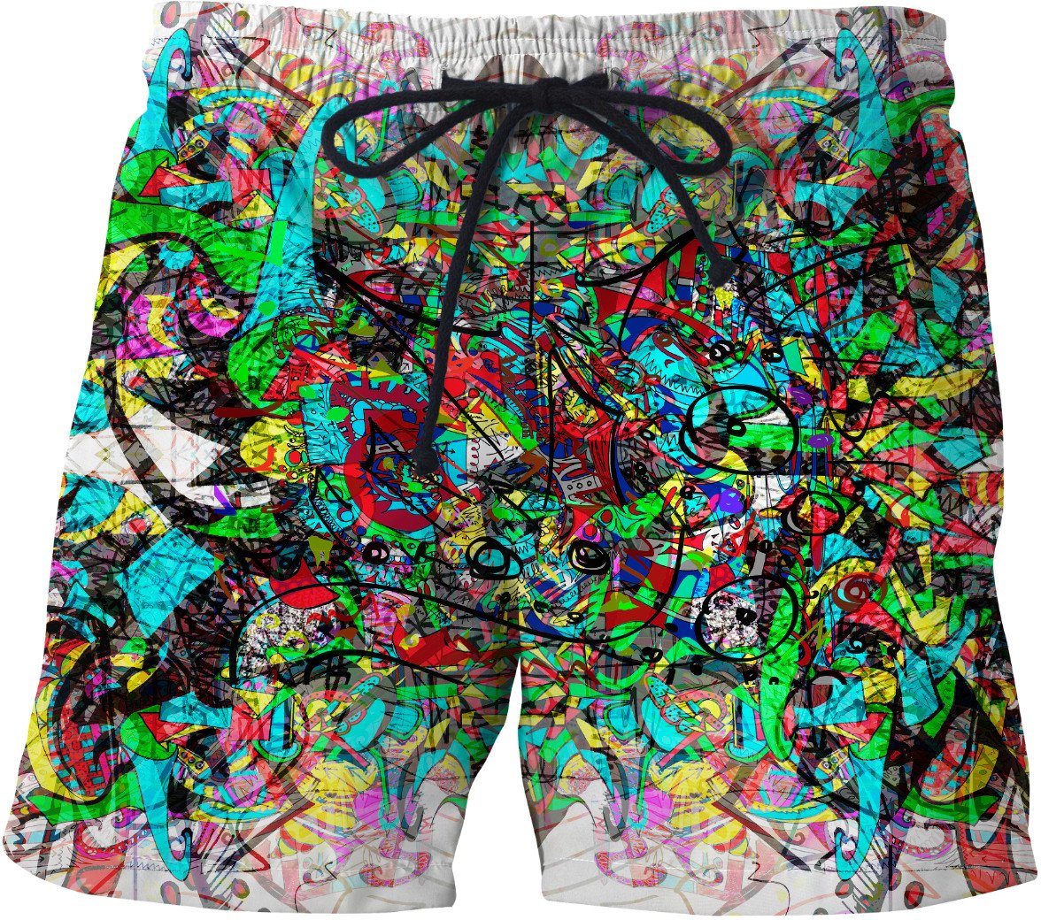 Alien Darkness 20 Swim Shorts - TShirtsRUS.co
