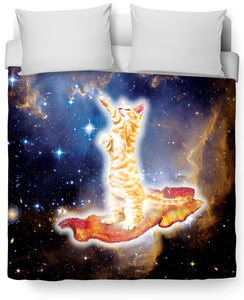 Bacon Cat Duvet Cover - TShirtsRUS.co