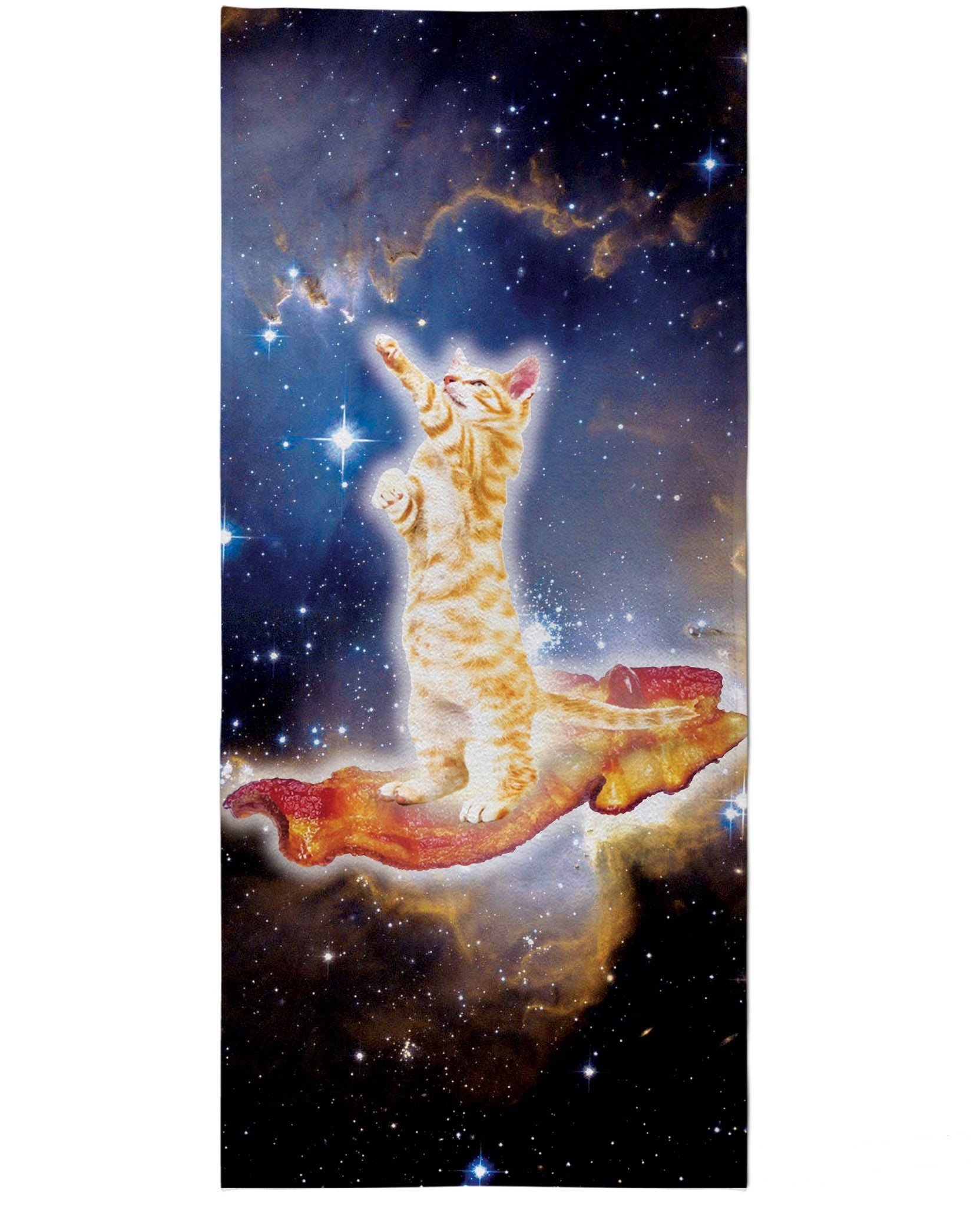 Bacon Cat Beach Towel - TShirtsRUS.co