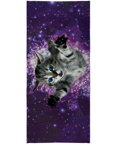 Kitty Glitter Beach Towel - TShirtsRUS.co