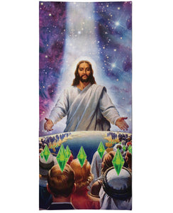 Jesus Died For Your Sims Beach Towel - TShirtsRUS.co