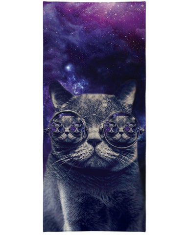 Hipster Cat Beach Towel - TShirtsRUS.co