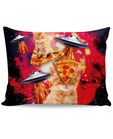 Bacon Pizza Space Cat Pillow Case - TShirtsRUS.co