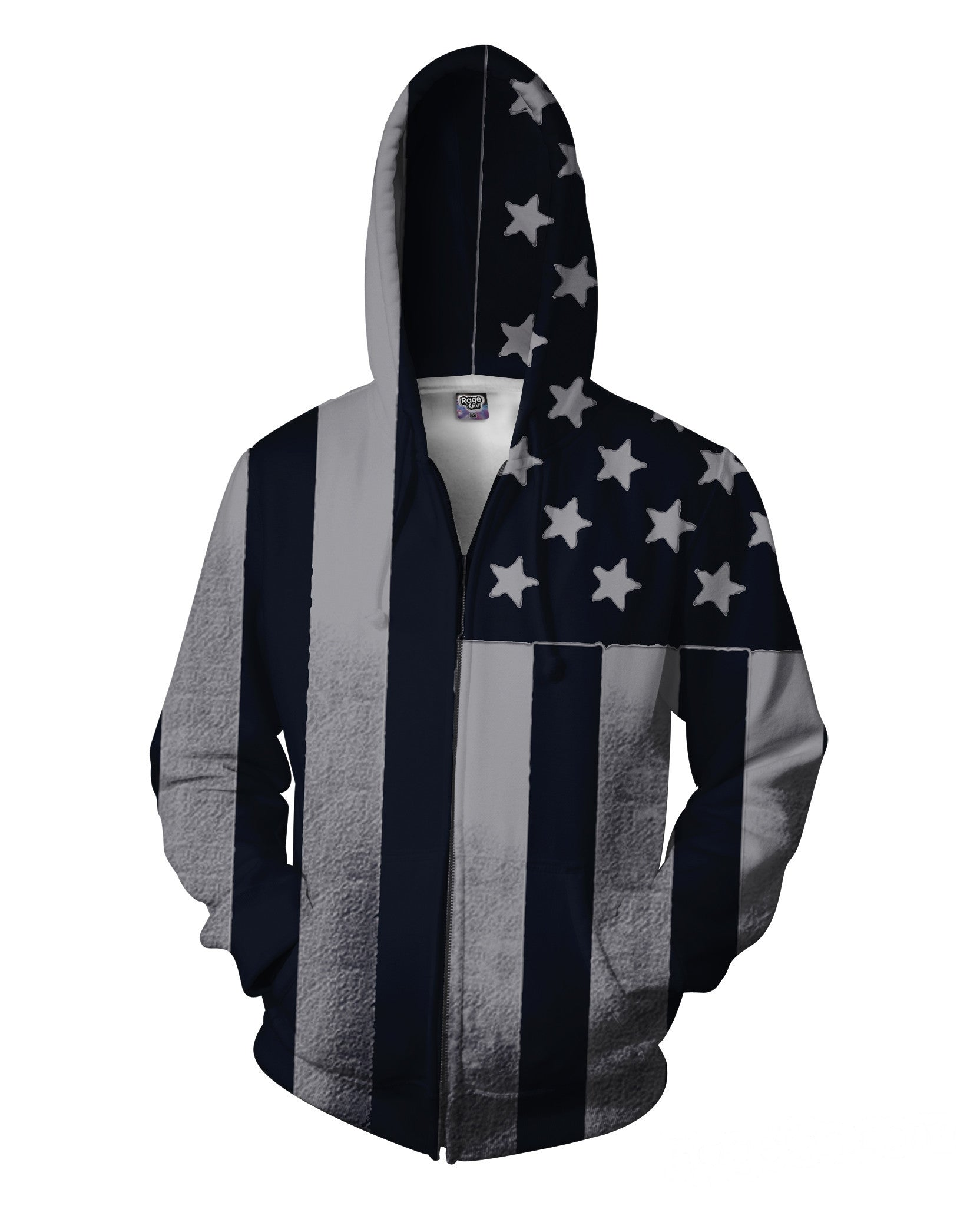 Americana Zip-Up Hoodie - TShirtsRUS.co