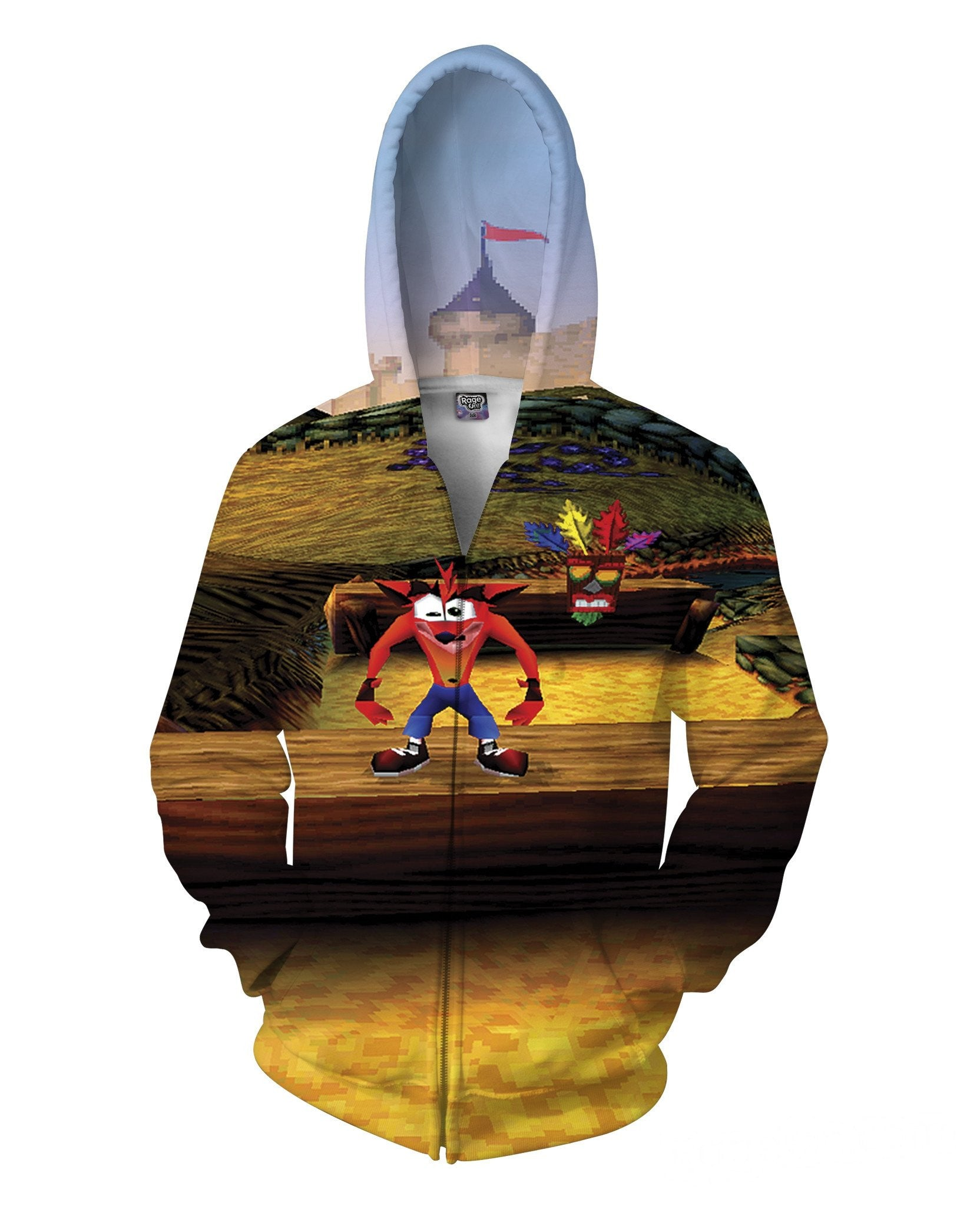 Crash Bandicoot Zip-Up Hoodie - TShirtsRUS.co