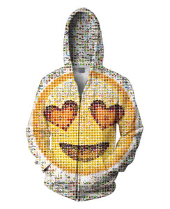 Emoji Zip-Up Hoodie - TShirtsRUS.co