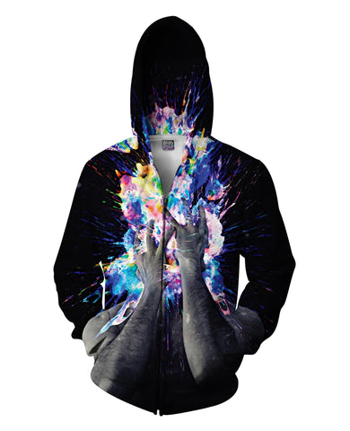 Artistic Bomb Zip-Up Hoodie - TShirtsRUS.co