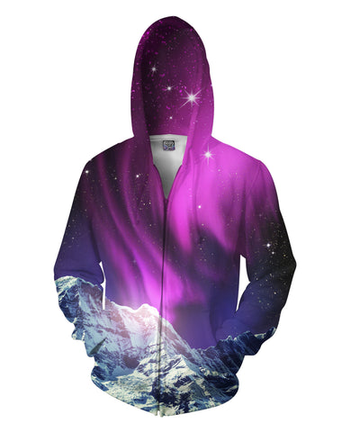Aurora Lights Zip-Up Hoodie - TShirtsRUS.co