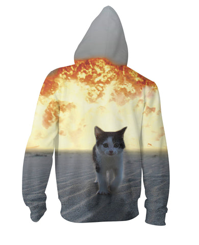 Cat Explosion Zip-Up Hoodie - TShirtsRUS.co