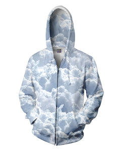 Clouds Zip-Up Hoodie - TShirtsRUS.co