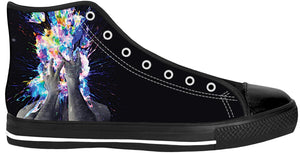 Artistic Bomb Black Sole High Tops - TShirtsRUS.co