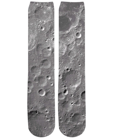 Moon Surface Knee-High Socks - TShirtsRUS.co