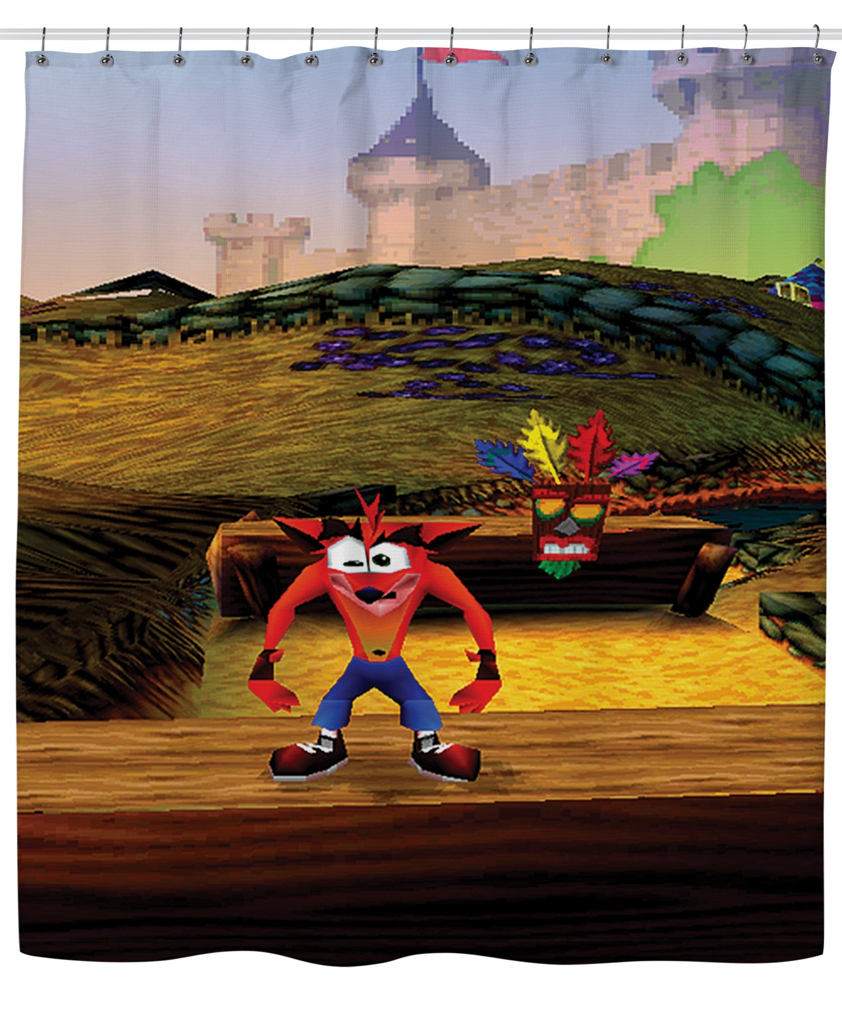 Crash Bandicoot Shower Curtain - TShirtsRUS.co