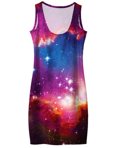 Cosmic Forces Simple Dress - TShirtsRUS.co