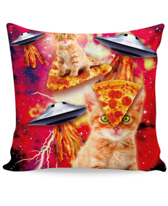 Bacon Pizza Space Cat Couch Pillow - TShirtsRUS.co