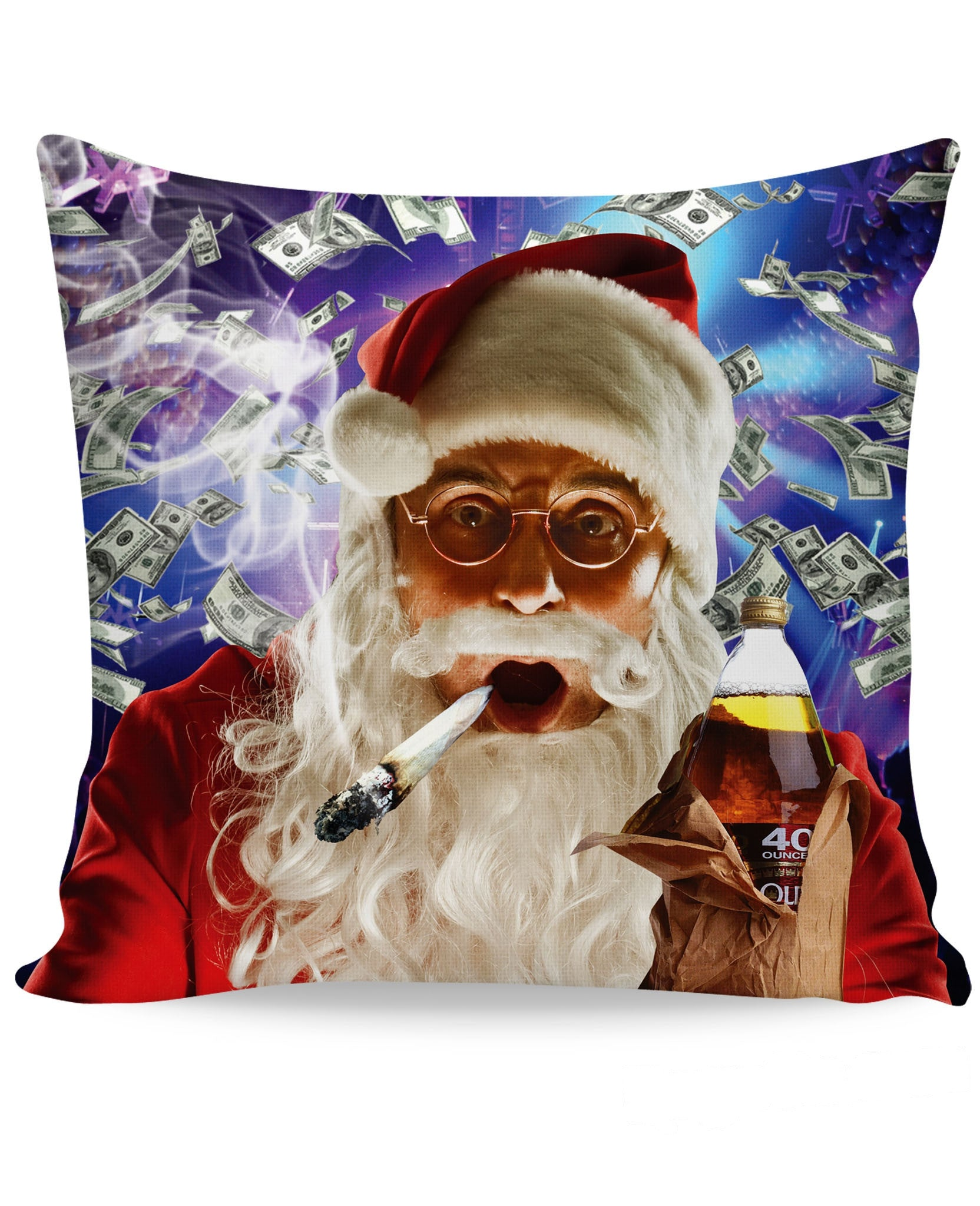 Club Santa Couch Pillow - TShirtsRUS.co