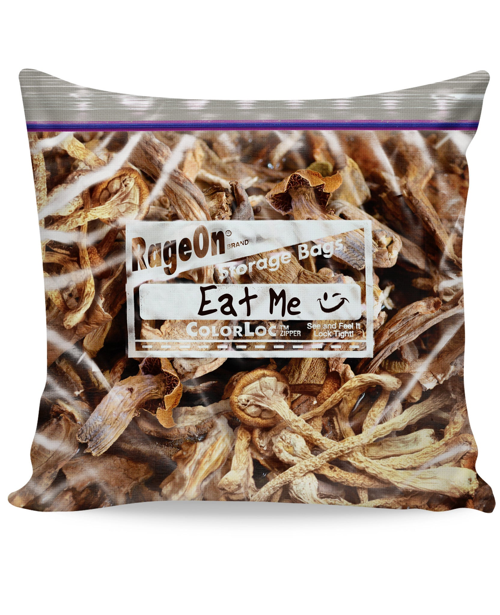 Eat Me Magic Mushrooms Couch Pillow - TShirtsRUS.co