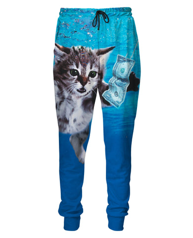 Cat Cobain Sweatpants - TShirtsRUS.co