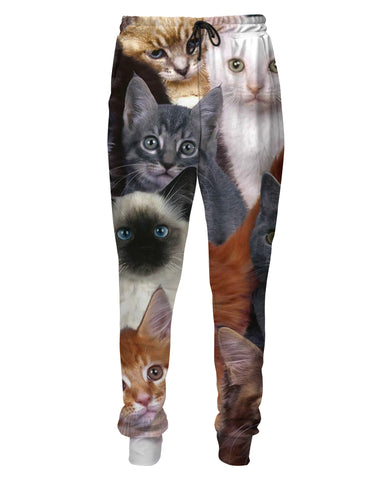 Cats Collage Sweatpants - TShirtsRUS.co